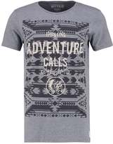 Tom Tailor Denim Basic Fit Print Tshirt Heather Grey Melange