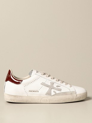 Premiata Steven Sneakers In Leather And Suede