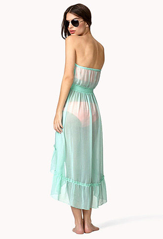 Forever 21 High-Low Chiffon Cover Up Dress