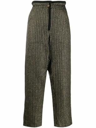 Saint Laurent Lurex Striped Drawstring Pants