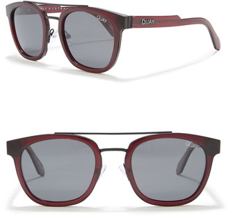 Quay 43mm Coolin Brow Bar Round Polarized Sunglasses