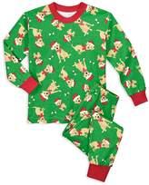 Sara's Prints Unisex Dog in Santa Hat Holiday Pajama Set