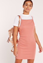 Missguided Rib 2 in 1 T-Shirt Dress Nude