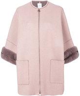 Agnona cropped sleeve coat - women - Mink Fur/Cashmere - XS