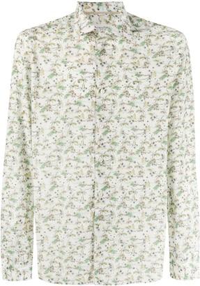 Tintoria Mattei Tropical-Print Buttoned Shirt