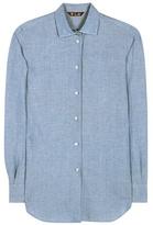 Loro Piana Kara cotton and linen-blend shirt