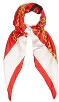 Balenciaga Logo silk-twill scarf