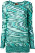 Missoni intarsia knit jumper - women - Cotton - 40