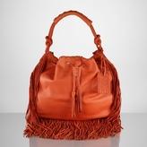 Ralph Lauren Leather Fringe Hobo