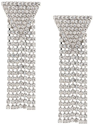 Alessandra Rich Crystal-Embellished Drop Earrings