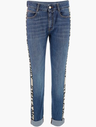 Stella McCartney Jacquard Logo Bands Denim Women's Jeans