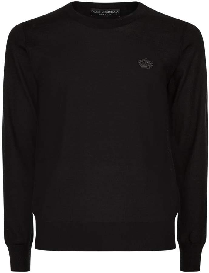 Dolce & Gabbana Crown Embroidery Sweatshirt