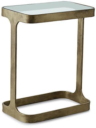 Global Views Saddle Side Table - Antiqued Gold