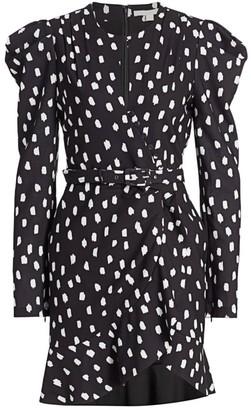 Jonathan Simkhai Polka Dot Button Wrap Dress