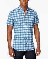 HUGO BOSS HUGO Men's Abstract Grid-Pattern Cotton Shirt