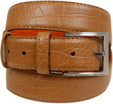 Yours Clothing BadRhino Tan Textured Bonded Leather Belt