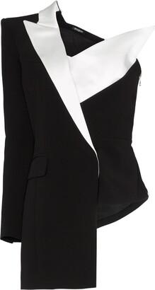 Balmain Asymmetric One-Shoulder Blazer