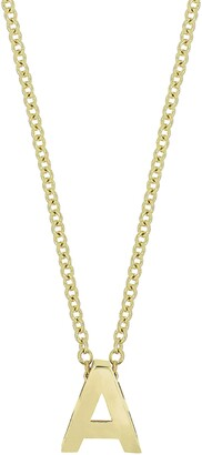 Bony Levy 14K Gold Initial Pendant Necklace