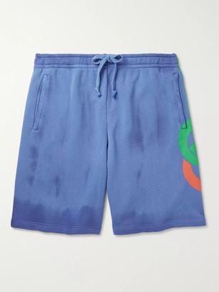Gucci Logo-Print Loopback Cotton-Jersey Drawstring Shorts