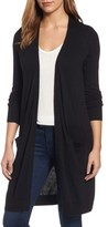 Petite Women's Halogen Long Open Front Cardigan