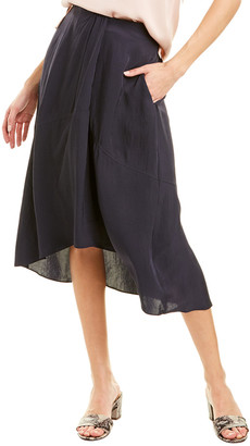 Vince High-Low Midi Skirt
