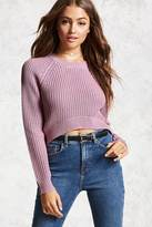 Forever 21 FOREVER 21+ High-Low Ribbed Knit Sweater