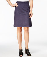 Tommy Hilfiger Faux-Suede A-Line Skirt, Only at Macy's