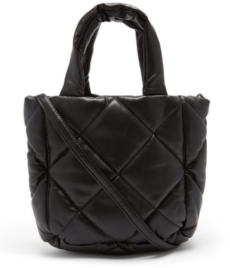 Stand Studio Rosanne Mini Quilted Faux-leather Tote Bag - Black