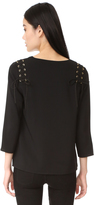 Cooper & Ella Adel Lace Up Blouse