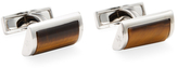 Canali Tiger Eye D-Shaped Rectangular Cufflinks