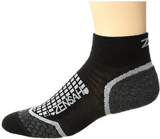 Zensah Grit Running Socks (Ankle) (Black) Crew Cut Socks Shoes