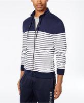 Tommy Hilfiger Men's Striped Zip-Front Knit Jacket