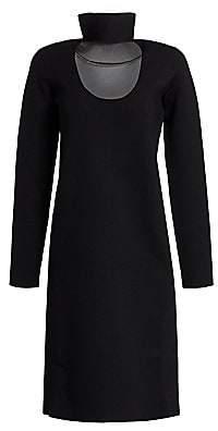 Bottega Veneta Women's Stretch-Crepe Cutout Turtleneck Dress
