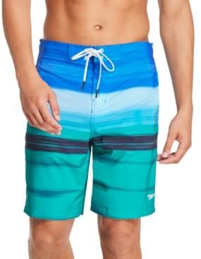 "Speedo Men's Bondi Ombre Gradient Stripe 2-Way Stretch Upf 50+ 20"" Board Shorts"