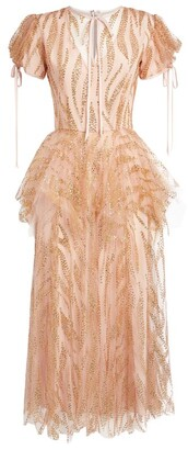 Rodarte Glitter Tulle Midi Dress