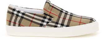 Burberry Thompson Check Slip On Sneakers