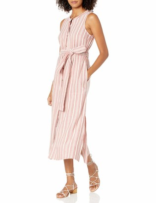 Club Monaco Women's Sleeveless Button Dress Stripe 6