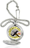 Marvel Thor Hammer Mens Silver-Tone Pocket Watch