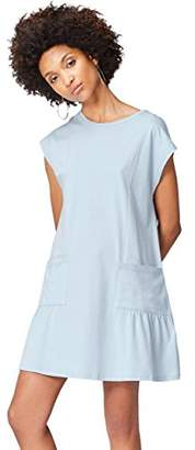 find. Women's Dress in Jersey with Pocket Detail and Short Sleeves,(Manufacturer size: Small)