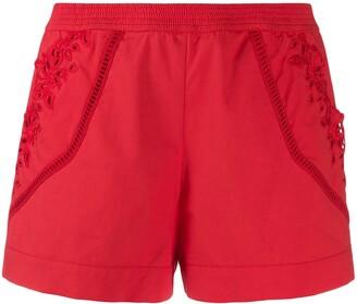 Ermanno Scervino embroidered side shorts