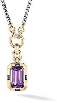 David Yurman Women's Novella 18K Yellow Gold, Sterling Silver, Amethyst & Iolite Garnet Enhancer Pendant