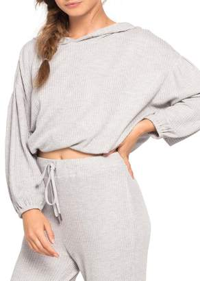 L-Space Venice Beach Cropped Cover-Up Hoodie