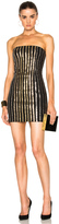 Balmain Strapless Sequin Mini Dress