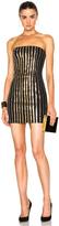 Balmain Strapless Sequin Mini Dress