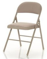 Cosco Fabric 4-Pack Folding Chair, Antique Linen