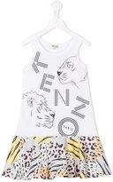 Kenzo Jungle print dress - kids - Cotton - 10 yrs