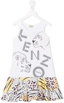 Kenzo Jungle print dress - kids - Cotton - 3 yrs