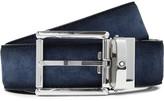 Montblanc 3.5cm Suede Belt - Navy