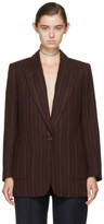 Isabel Marant Burgundy Striped Kern Suit Blazer