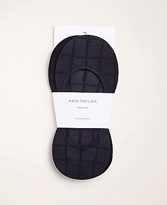Ann Taylor Windowpane No Show Socks